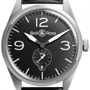 Bell & Ross Br 123 Brv123-Bl-St-Sca Kello Musta / Nahka