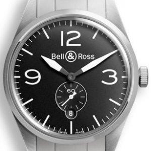 Bell & Ross Br 123 Brv123-Bl-St-Sst Kello Musta / Teräs