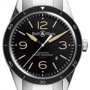 Bell & Ross Br 123 Brv123-St-Her-Sst Kello Musta / Teräs