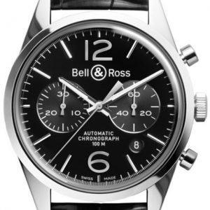 Bell & Ross Br 126 Brg126-Bl-St-Scr Kello Musta / Nahka