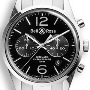 Bell & Ross Br 126 Brg126-Bl-St-Sst Kello Musta / Teräs