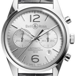 Bell & Ross Br 126 Brg126-Wh-St-Scr Kello Hopea / Nahka