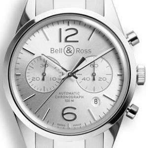 Bell & Ross Br 126 Brg126-Wh-St-Sst Kello Hopea / Teräs