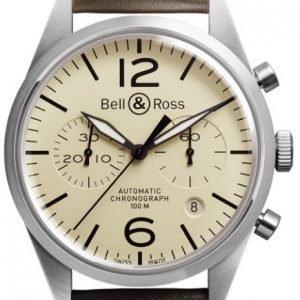 Bell & Ross Br 126 Brv126-Bei-St-Sca Kello Ruskea / Nahka