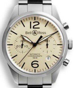 Bell & Ross Br 126 Brv126-Bei-St-Sst Kello Ruskea / Teräs