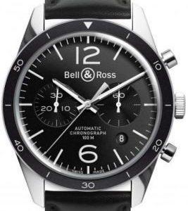 Bell & Ross Br 126 Brv126-Bl-Be-Sca Kello Musta / Nahka