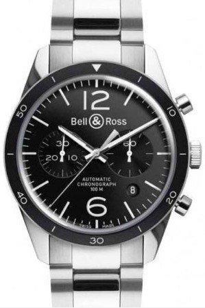 Bell & Ross Br 126 Brv126-Bl-Be-Sst Kello Musta / Teräs