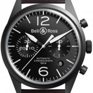 Bell & Ross Br 126 Brv126-Bl-Ca-Sca Kello Musta / Nahka