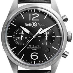 Bell & Ross Br 126 Brv126-Bl-St-Sca Kello Musta / Nahka