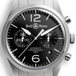 Bell & Ross Br 126 Brv126-Bl-St-Sst Kello Musta / Teräs