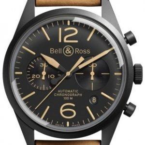 Bell & Ross Br 126 Brv126-Heritage Kello Musta / Nahka