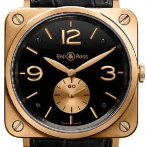 Bell & Ross Br S Mecanique Brs-Pkgold-Black_D Kello