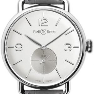 Bell & Ross Ww1 Brww1-Me-Ag-Op-Scr Kello Hopea / Nahka