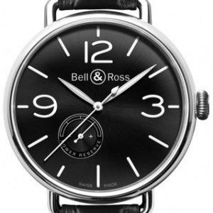 Bell & Ross Ww1 Brww197-Bl-St Kello Musta / Nahka