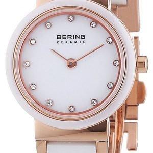 Bering Ceramic 10725-766 Kello Valkoinen / Punakultasävyinen