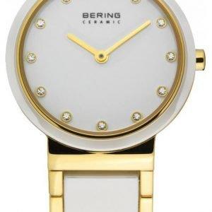 Bering Ceramic 10729-751 Kello Valkoinen / Kullansävytetty