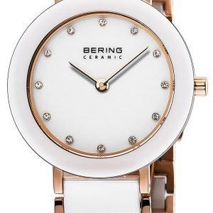 Bering Ceramic 11429-766 Kello Valkoinen / Punakultasävyinen