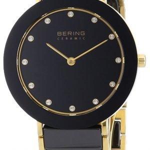 Bering Ceramic 11435-741 Kello Musta / Kullansävytetty Teräs