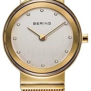 Bering Classic 10126-334 Kello Valkoinen / Kullansävytetty