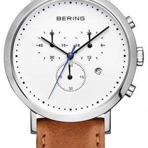 Bering Classic 10540-504 Kello Valkoinen / Nahka