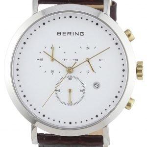 Bering Classic 10540-534 Kello Valkoinen / Nahka