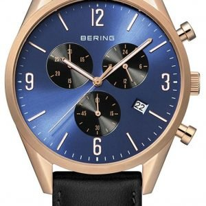 Bering Classic 10542-567 Kello Sininen / Nahka