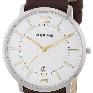 Bering Classic 11139-501 Kello Valkoinen / Nahka