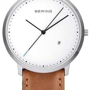 Bering Classic 11139-504 Kello Valkoinen / Nahka