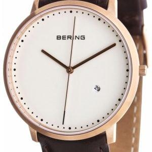 Bering Classic 11139-564 Kello Valkoinen / Nahka