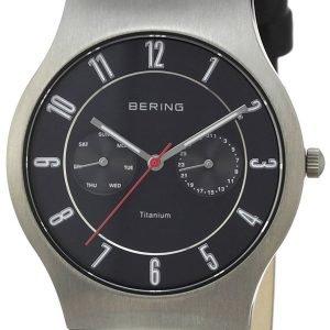 Bering Classic 11939-472 Kello Musta / Nahka