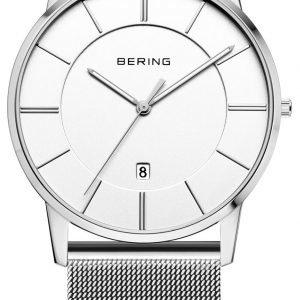 Bering Classic 13139-000 Kello Valkoinen / Teräs