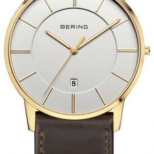 Bering Classic 13139-539 Kello Valkoinen / Nahka