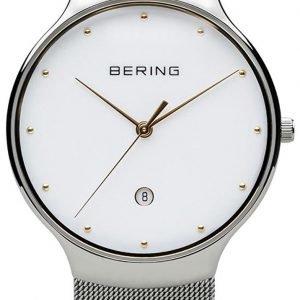 Bering Classic 13338-001 Kello Valkoinen / Teräs