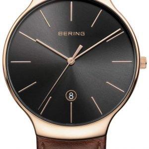 Bering Classic 13338-562 Kello Musta / Nahka
