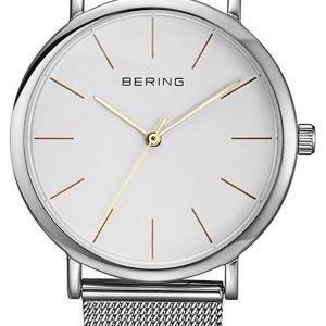 Bering Classic 13436-001 Kello Valkoinen / Teräs