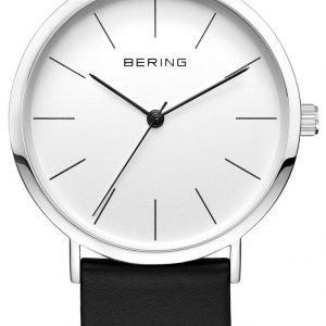 Bering Classic 13436-404 Kello Valkoinen / Nahka