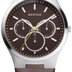 Bering Classic 13841-505 Kello Ruskea / Nahka