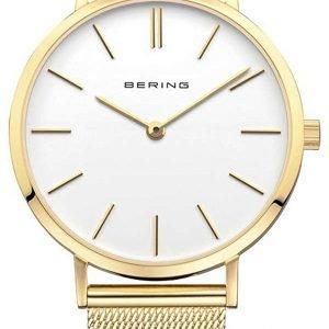 Bering Classic 14134-331 Kello Valkoinen / Kullansävytetty