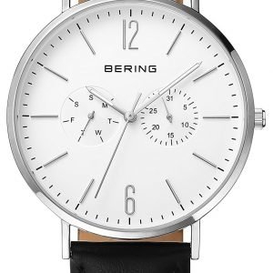 Bering Classic 14240-404 Kello Valkoinen / Nahka