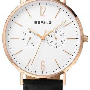 Bering Classic 14240-464 Kello Valkoinen / Nahka