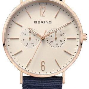 Bering Classic 14240-564 Kello Valkoinen / Tekstiili