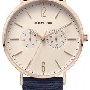 Bering Classic 14240-664 Kello Valkoinen / Tekstiili