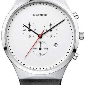 Bering Classic 14740-404 Kello Valkoinen / Nahka