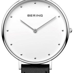 Bering Classic 14839-404 Kello Valkoinen / Nahka