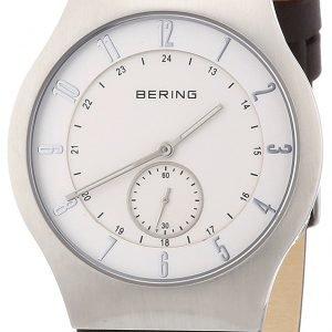 Bering Radio Controlled 51940-570 Kello Valkoinen / Nahka
