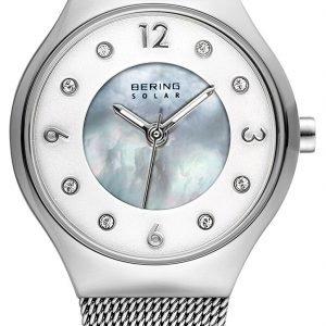 Bering Solar 14427-004 Kello Valkoinen / Teräs