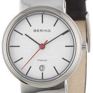 Bering Titanium 11029-404 Kello Valkoinen / Nahka