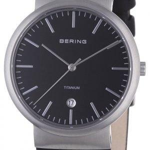 Bering Titanium 11036-402 Kello Musta / Nahka