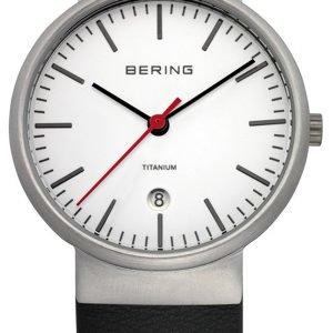 Bering Titanium 11036-404 Kello Valkoinen / Nahka