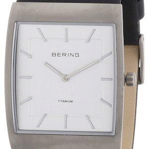 Bering Titanium 11233-400 Kello Valkoinen / Nahka